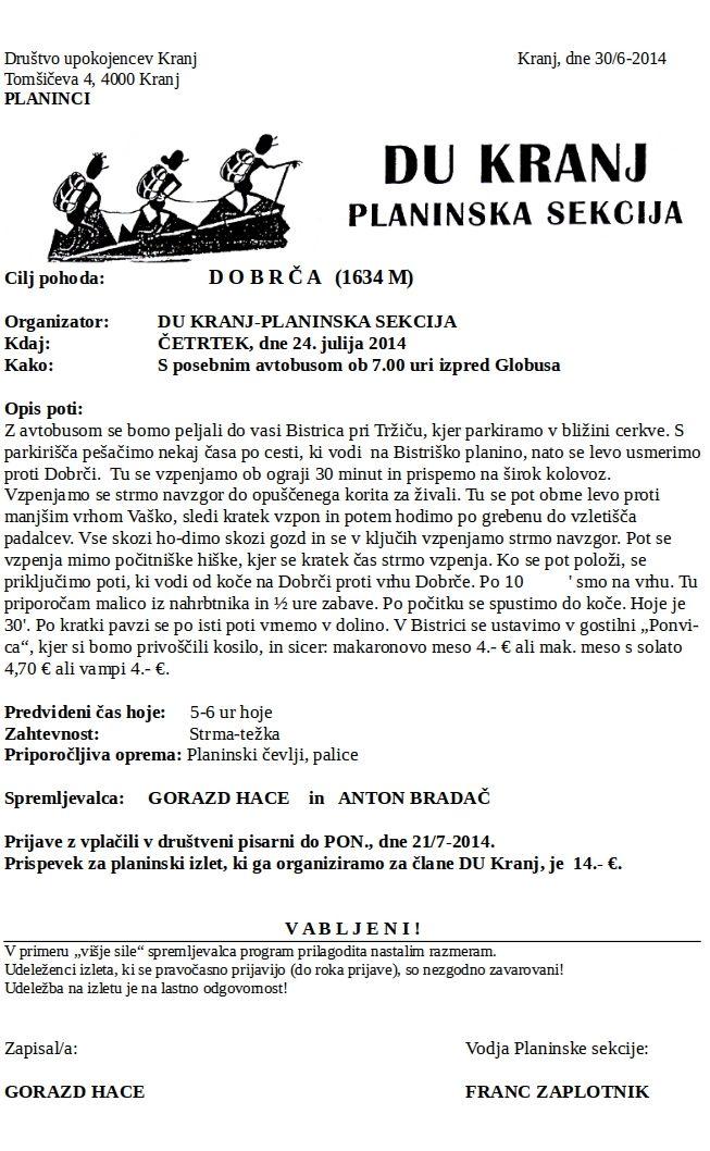 Dobrča 24.7. 2014