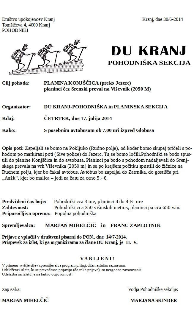 Pl. Konjščica  17.7.2014
