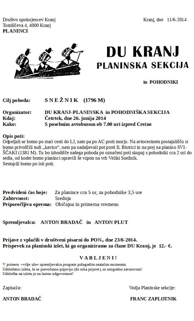 Snežnik 26. 6. 2014